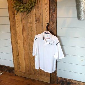 Men's xl euc white and grey Nike golf polo